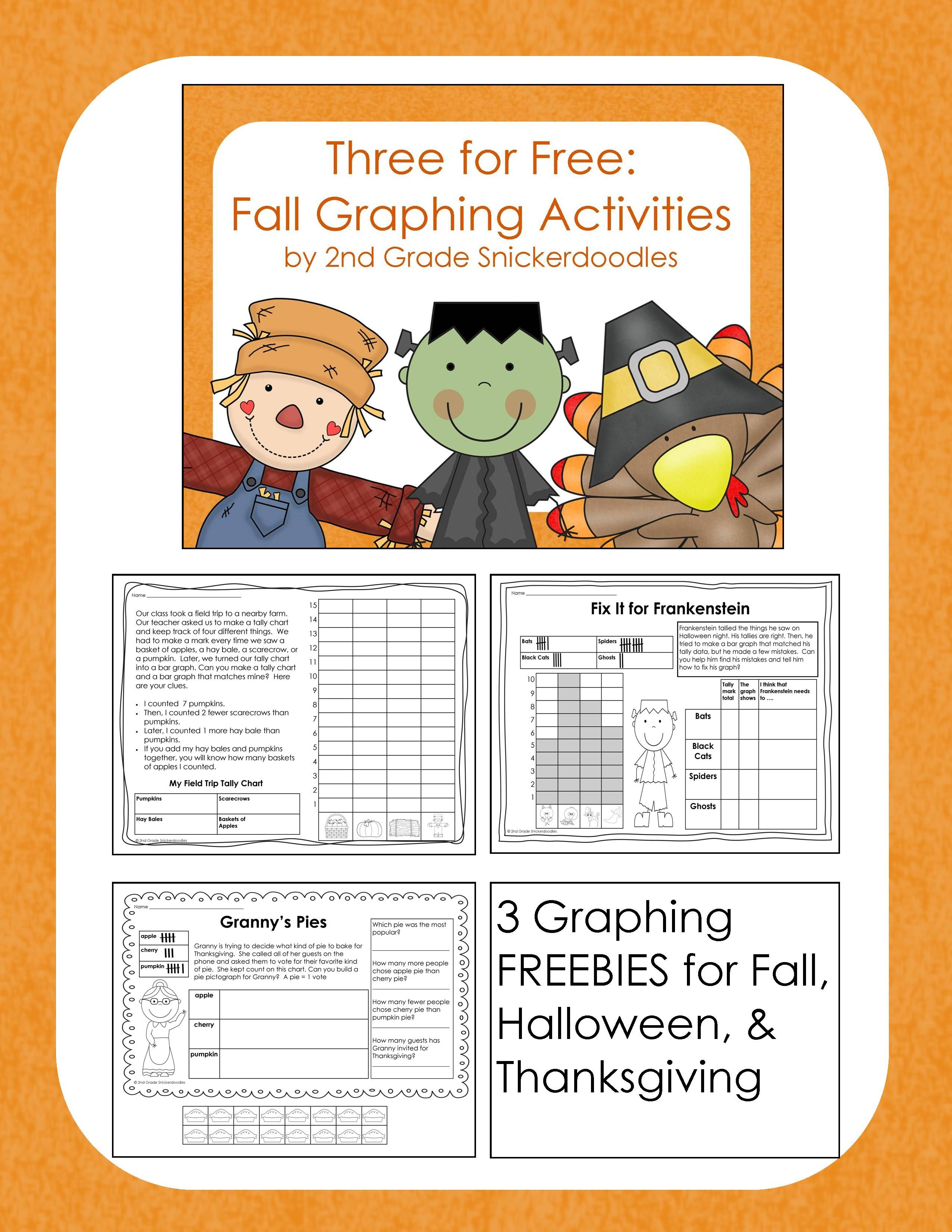 Three For Free Fall Graphing Activities Graphing Activities Third Grade Math Math Activities [ 3300 x 2550 Pixel ]