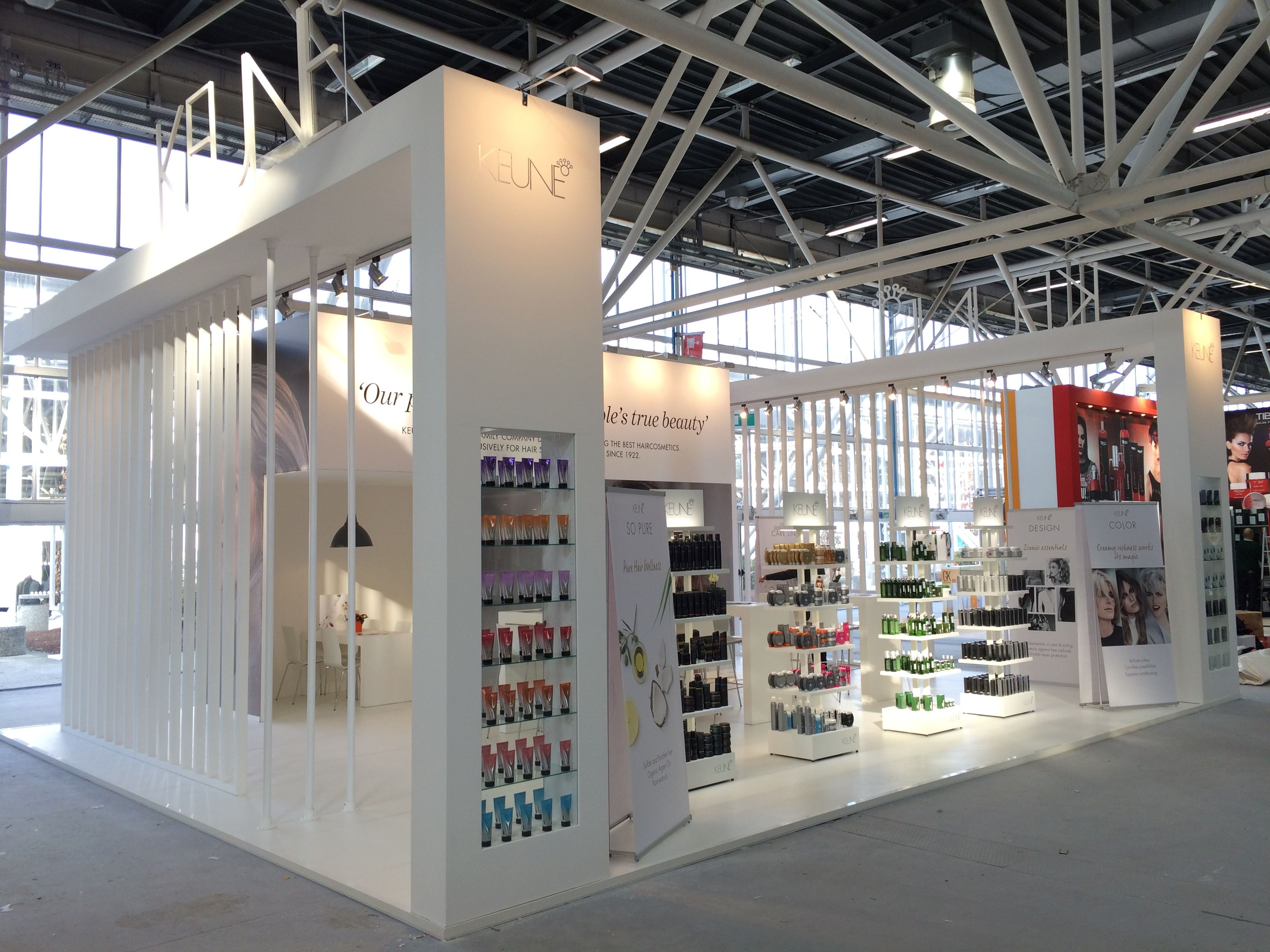 Hair Expo Stands : Exhibition stand from the inside building at