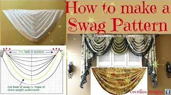 How Not To Make A Swag Valance Youtube Curtain Patterns Swag Curtains Valance Patterns