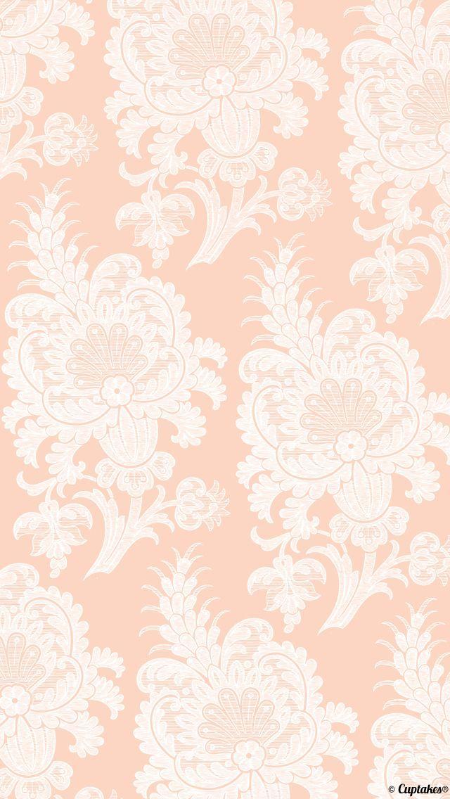 light peach paisley wallpaper