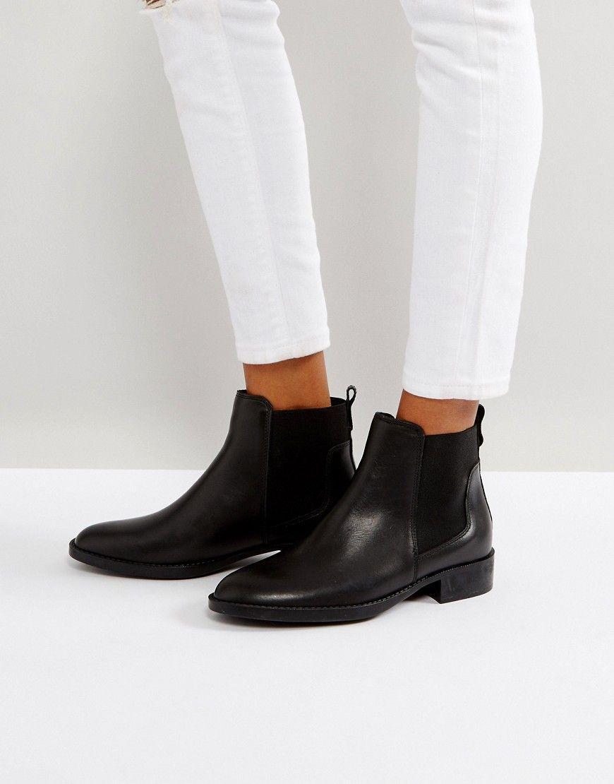 79cdbacd2b66 Oasis Flat Chelsea Boot - Black | shoes | Flat chelsea boots, Black ...