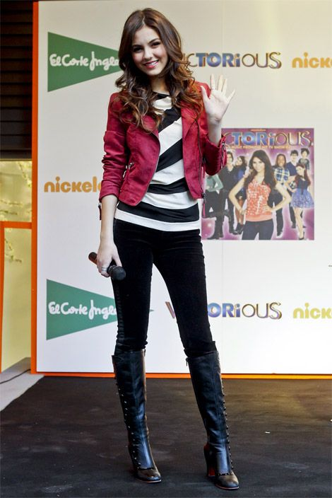 celebrities in boots victoria justice in christian