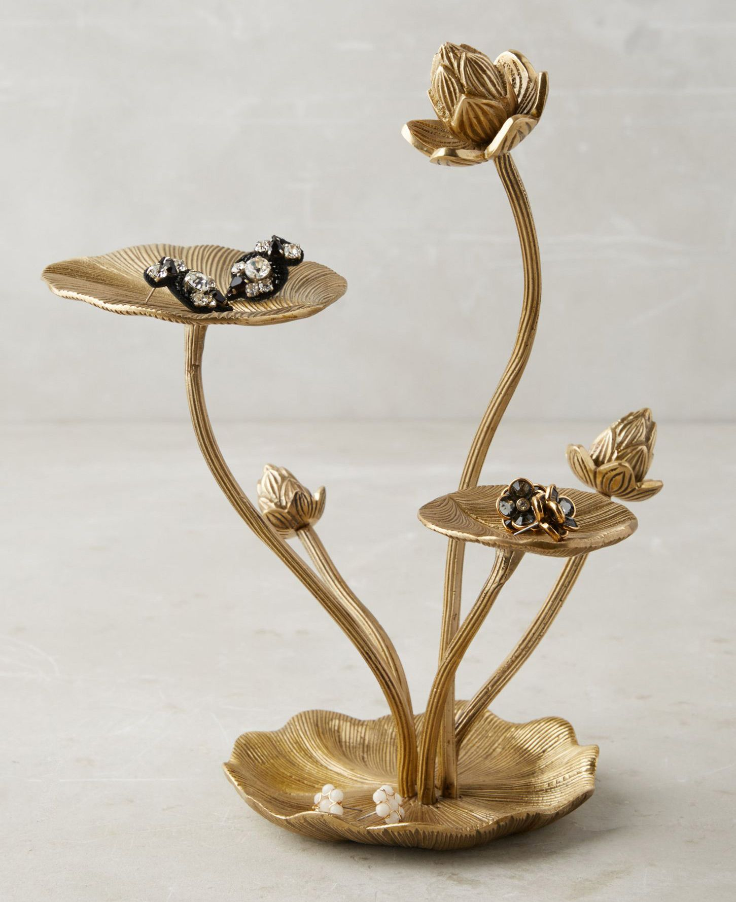 25 Beautiful Gold Jewelry Holders Jewelry Holders