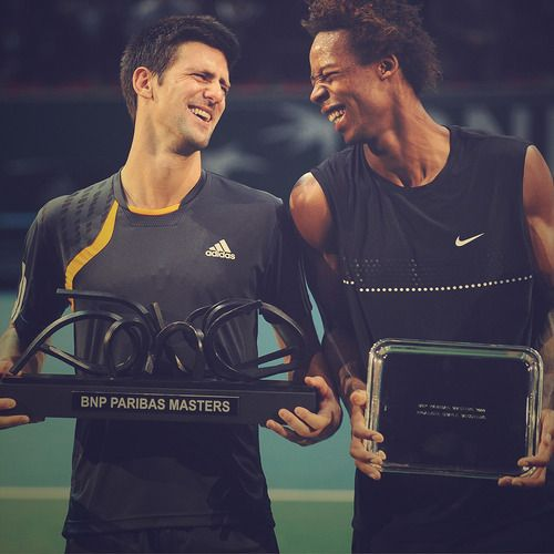 Novak Djokovic And Gael Monfils Paris Tenis Tenista Fotos
