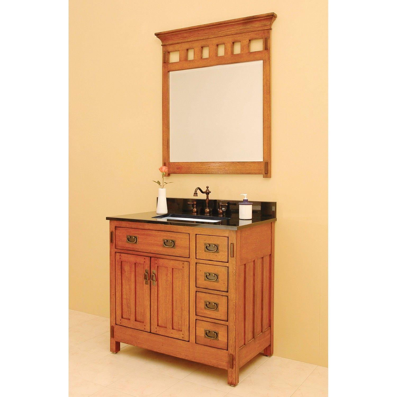36 American Craftsman Vanity For Rectangular Undermount Sink Mission Style Bathroom Craftsman Style Bathrooms Craftsman Bathroom