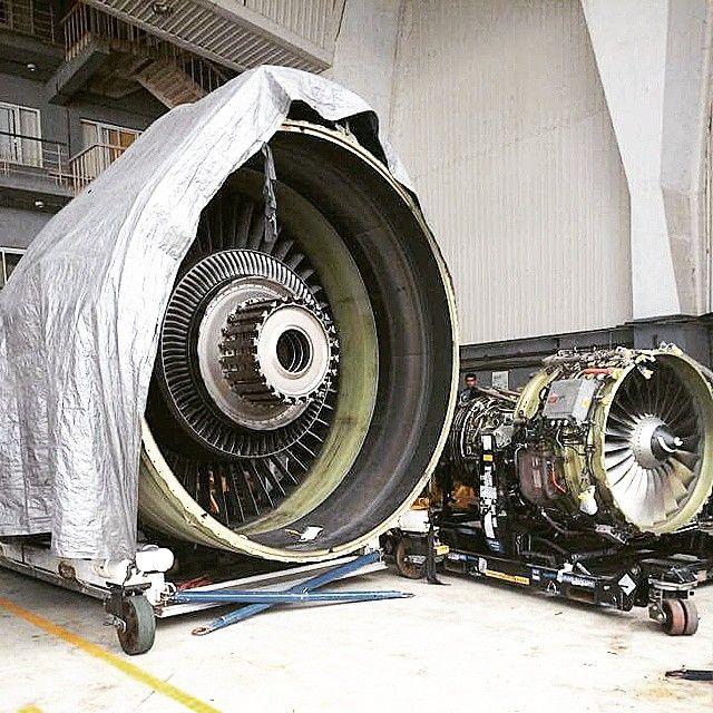 GE 90 vs CFM56-7B Pc:gigabyte58 @csiamumbai @jet_airways