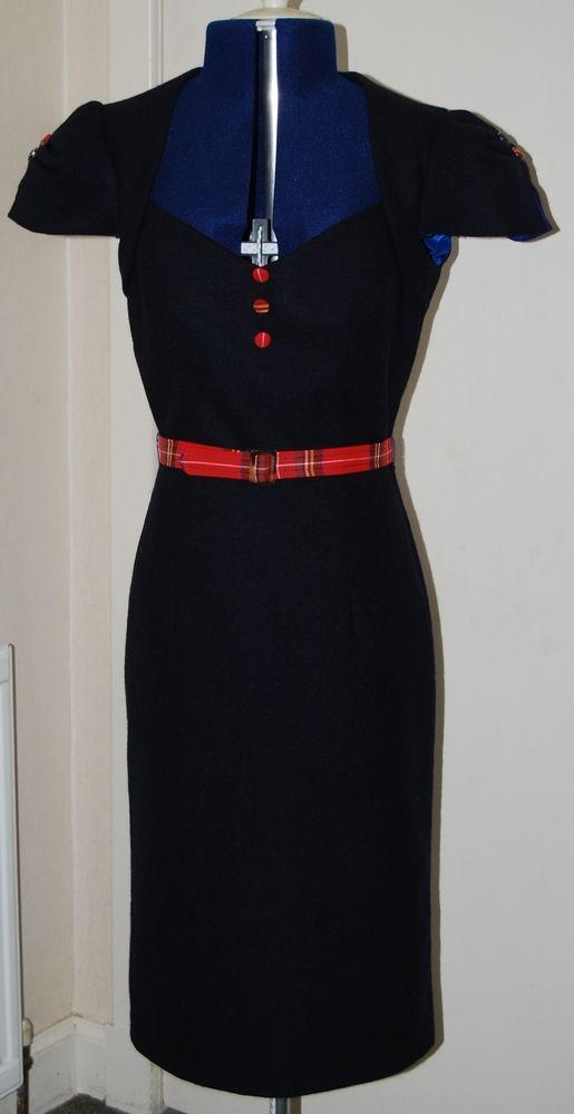 Royal stewart tartan cocktail dress