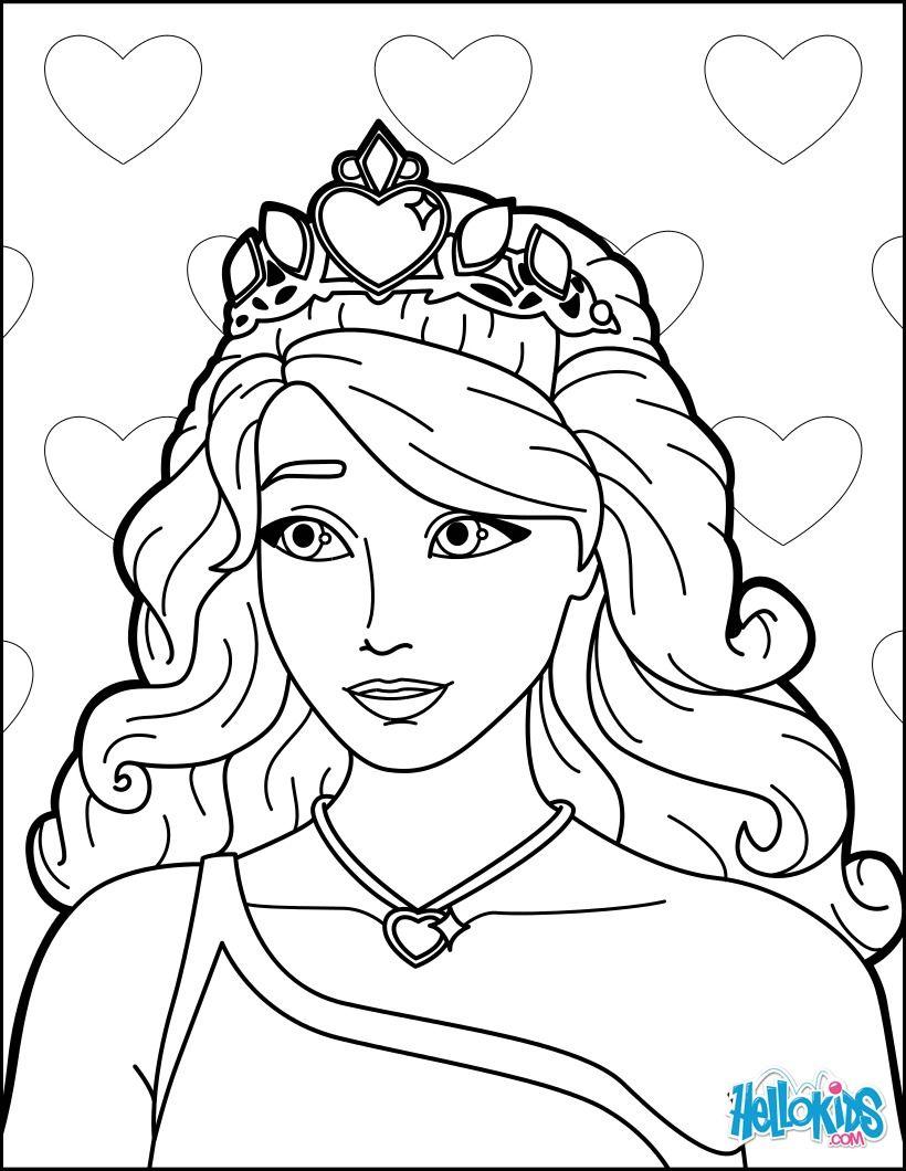 Barbie A Princesa Com Imagens Paginas De Fadas Para Colorir