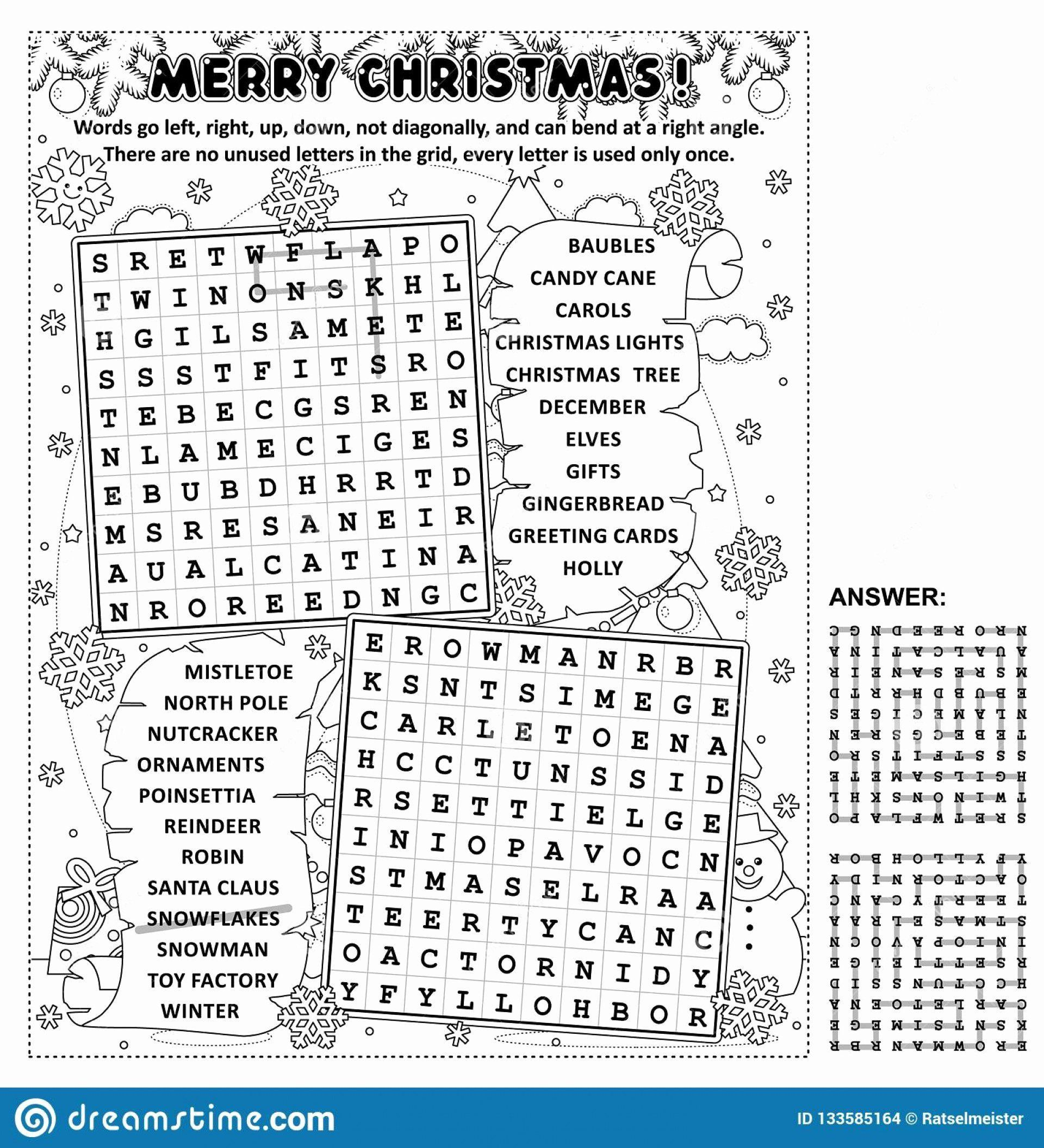 4 Multiplication Worksheets Christmas Puzzle In