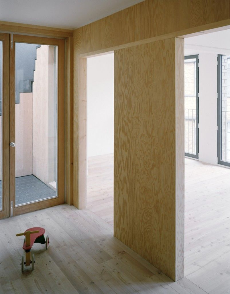 Stephen Taylor Architects House On Work   Pine Plywood Wall Finish