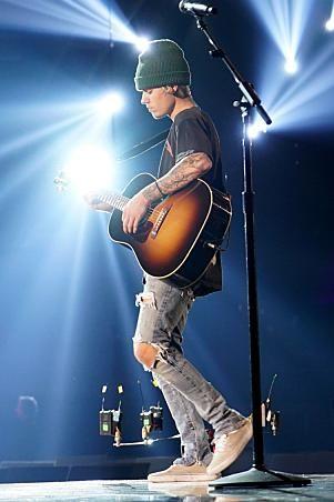 15b5f9676be Justin Bieber wearing Fear of God Selvedge Romper Jean