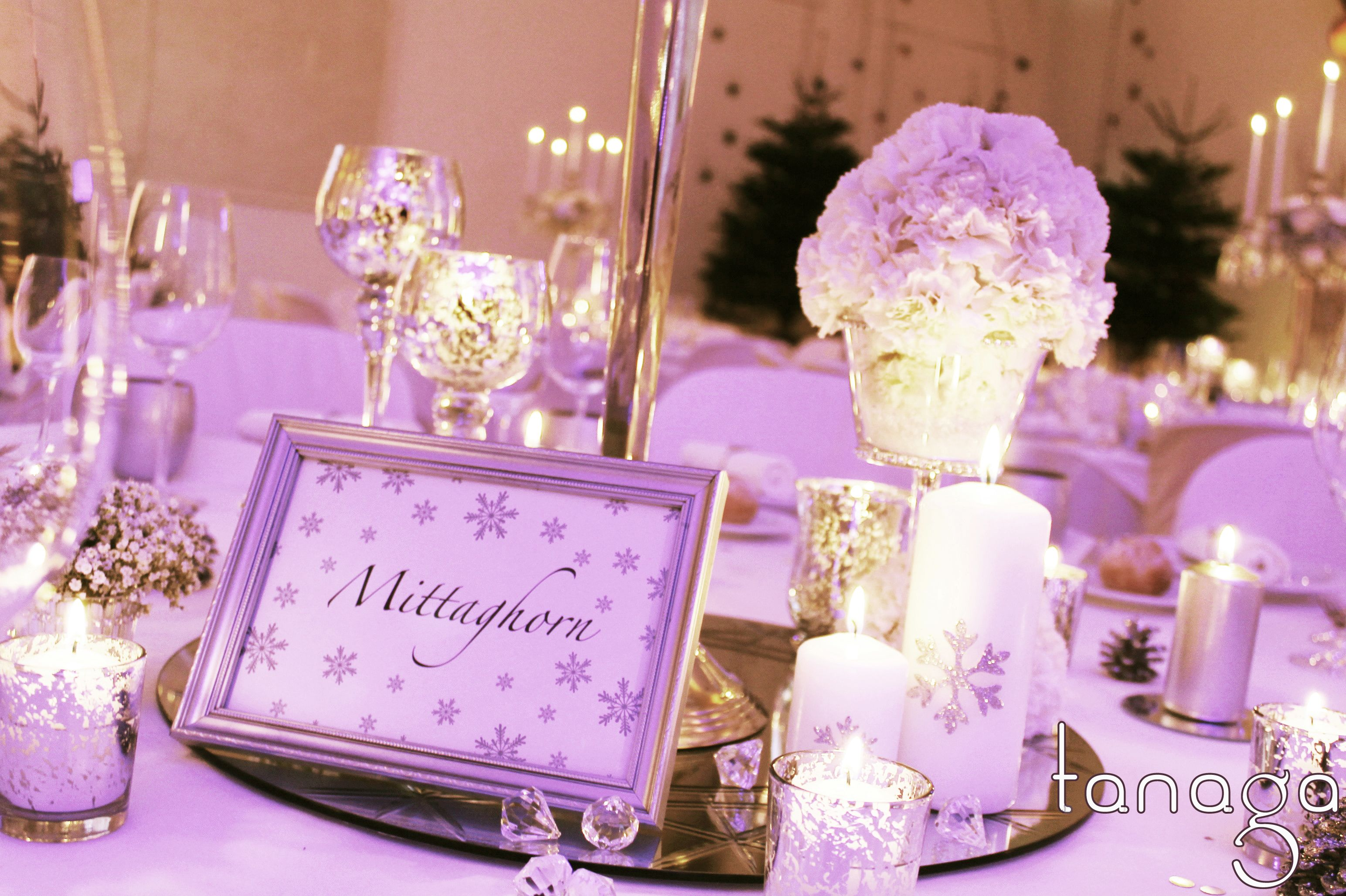 Décoration de #table #mariage hiver #winter #wedding, mirroir ...