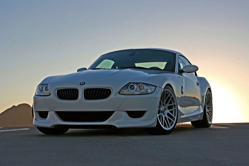 White BMW Z4 M Coupe on Morr 19