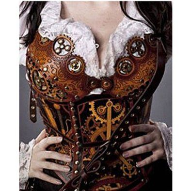 All I can say is...Oh my!    By THe Sword, Inc.  Steampunk Clockwork CORSET    -Leather  -Underbust Corset  -Quality Hardened Leather  -Hand Made  -Hand Airbrushed
