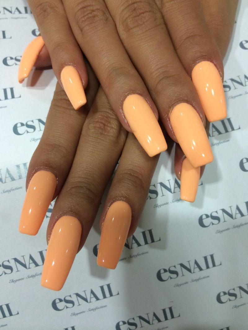 Orange Acrylic Nails | Best Nail Designs 2018