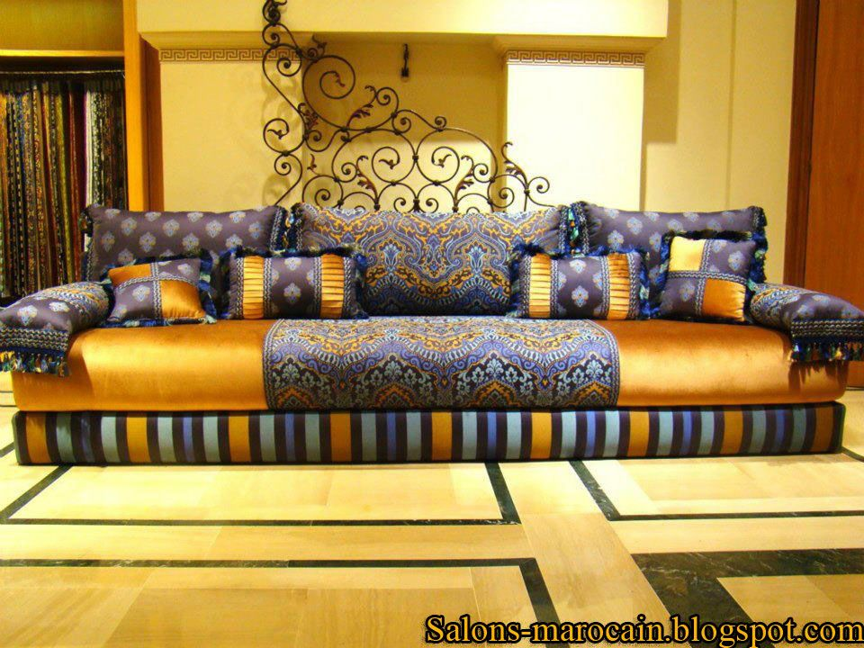 Salon marocain traditionnel design moderne   decoration marocaine ...