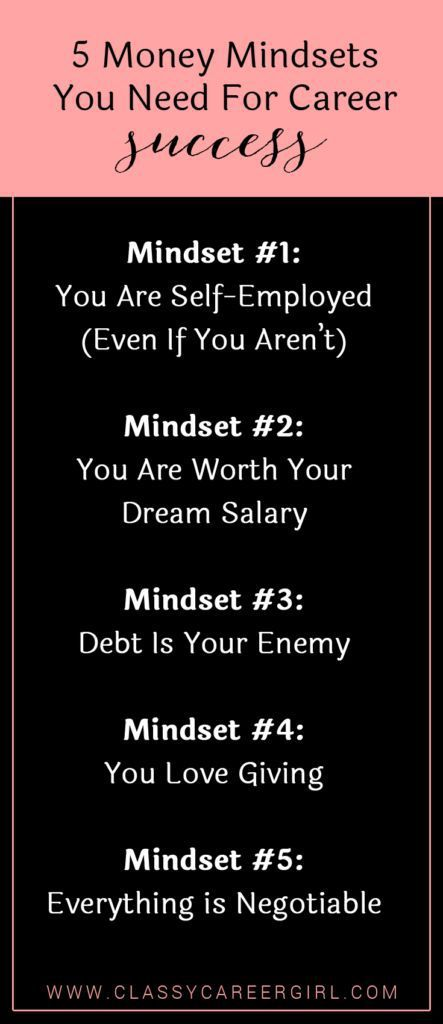 Career infographic  5 Money Mindsets You Need For Career Success - Expert Tips On Resume Principles
