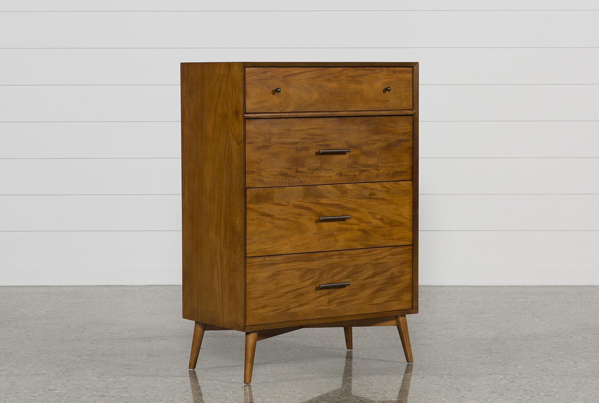 Alton Cherry Chest Of Drawers Brown 395 California