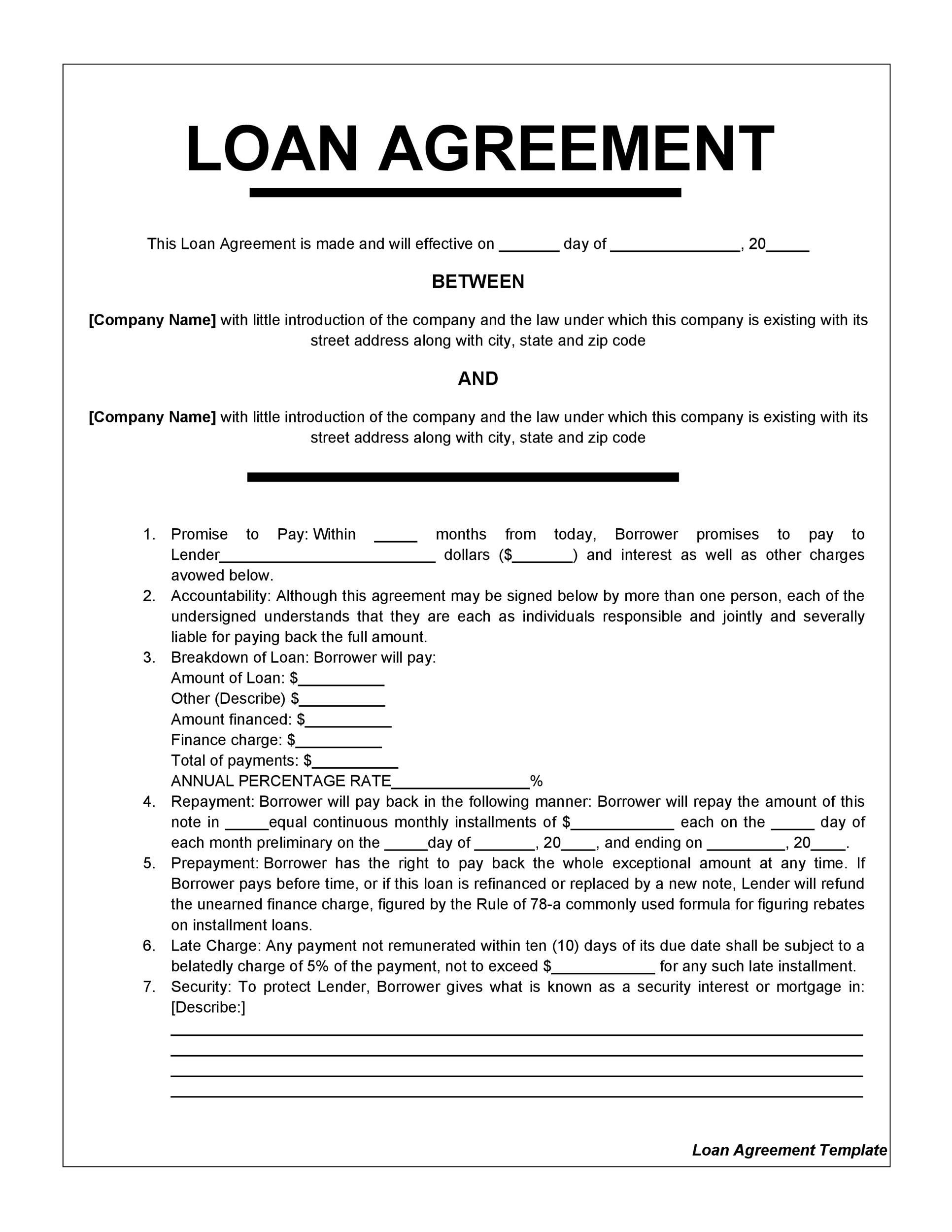 Financial Loan Template 2 Things You Should Do In Financial Loan Template In 2020 Contract Template Personal Loans Small Business Loans