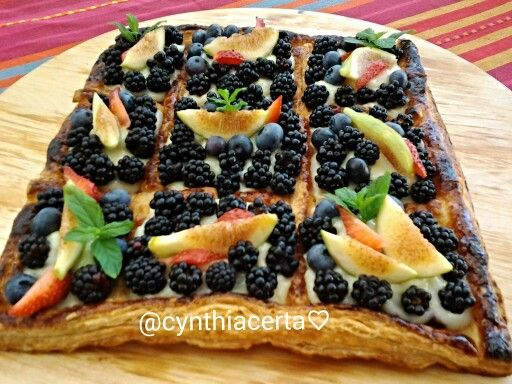 Berries cake.....lemon cream & fresh fruits @cynthiacerta