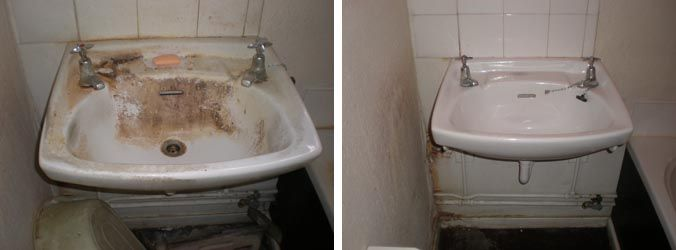 Before and after pictures of clean houses