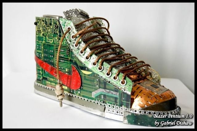Explore Found Object Art, Material Art and more! Nike shoes made out ...