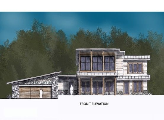 Front Sketch Of Mountain House House Styles Mountain House