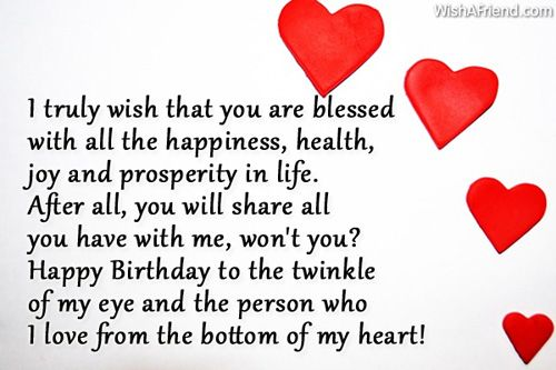 I Truly Wish That You Happy Birthday Quotes For Him Happy