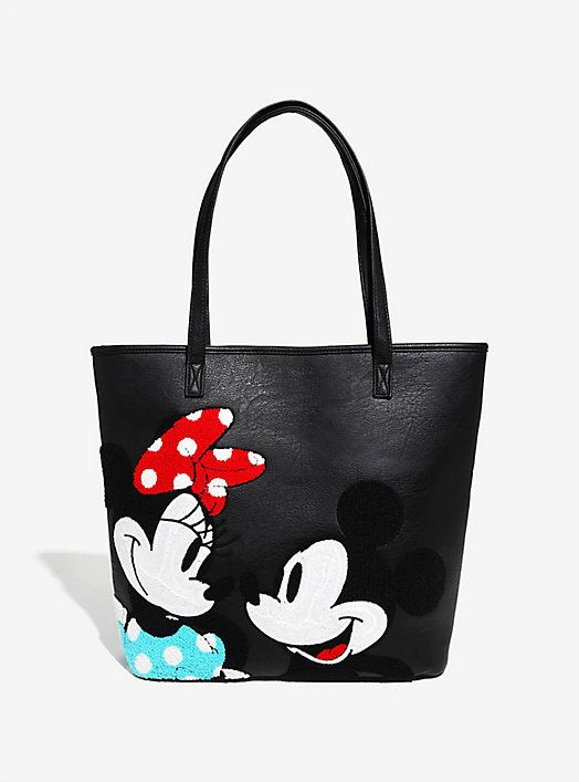 Loungefly Disney Mickey Mouse Minnie Mouse Chenille Tote Minnie Mouse Bag Disney Purse Disney Bags Backpacks
