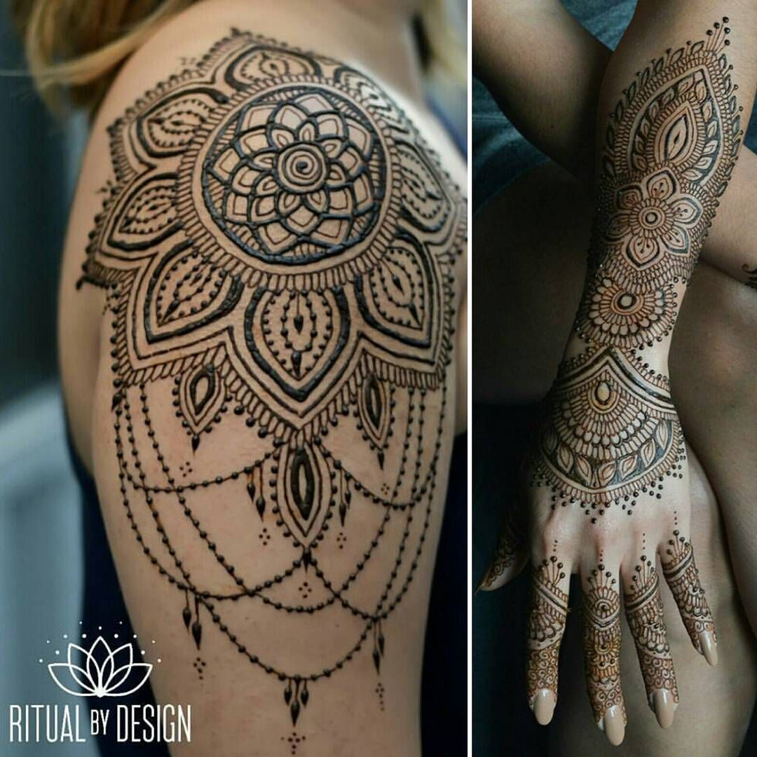 Henna Shoulder Tattoo Designs: See This Instagram Photo By @ritualbydesign • 1,567 Likes