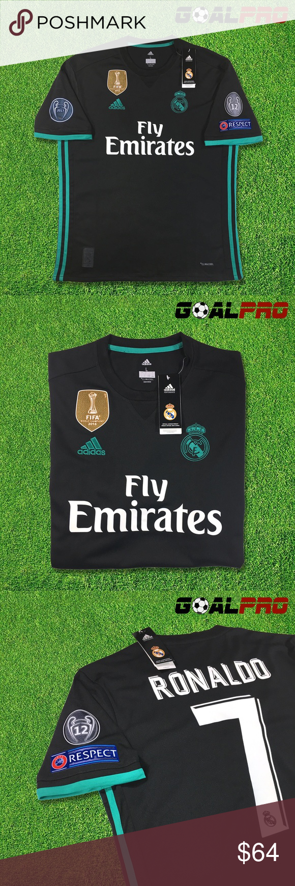 Jersey For Season 2017 18 Brand New With All Original Packaging Adidas Climacool Version UEFA Champions League Edition 2018 2016 FIFA World Cup