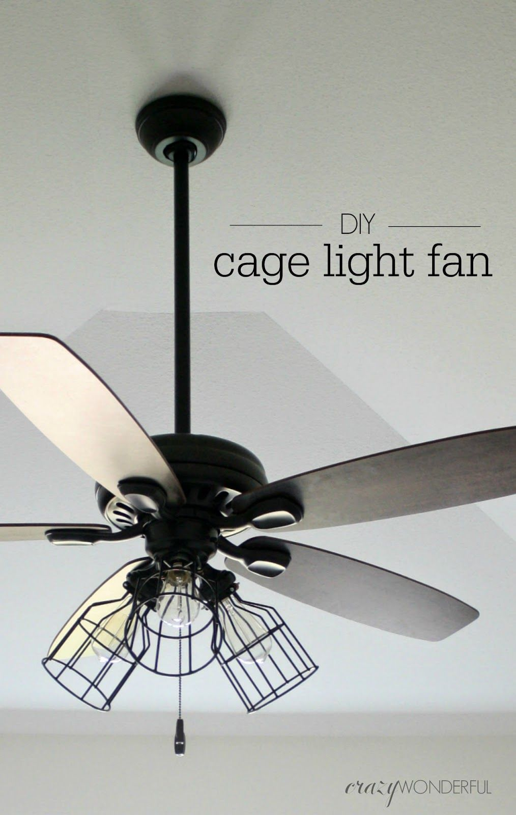 Zwarte Kooilamp Toepassingen Cage Light Fan Light Fixtures Ceiling Fan Makeover