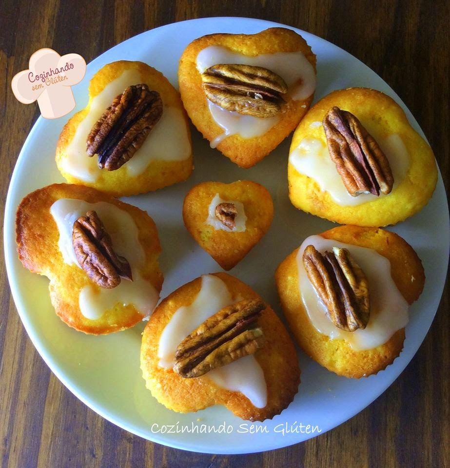 Cozinhando sem Glúten: Mini bolinhos de laranja - zero glúten/zero leite