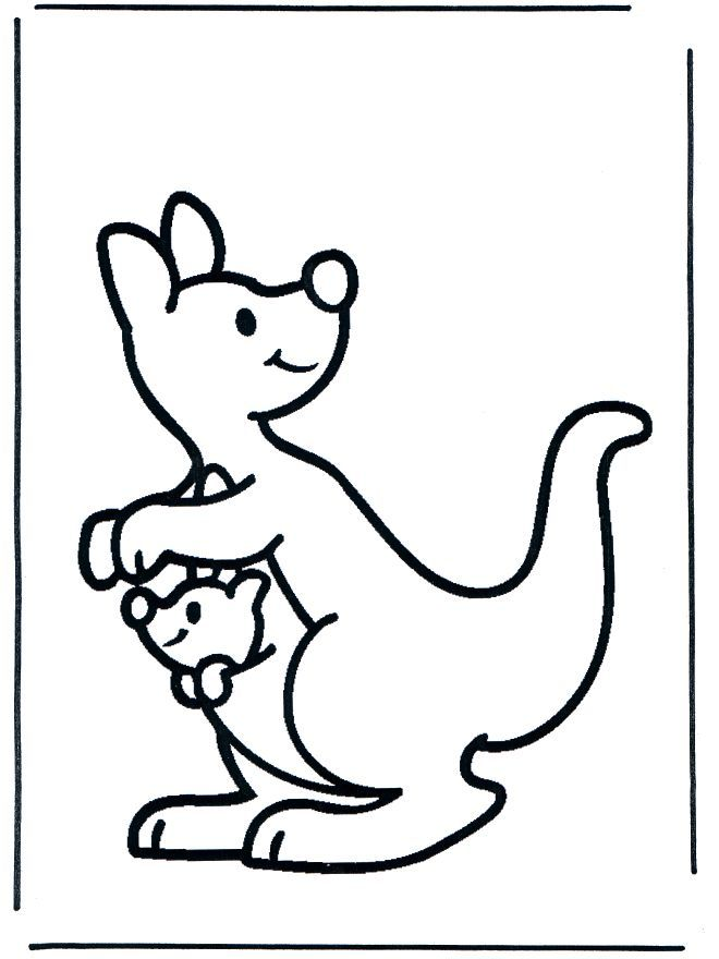 Kangaroo Joey Colouring Page