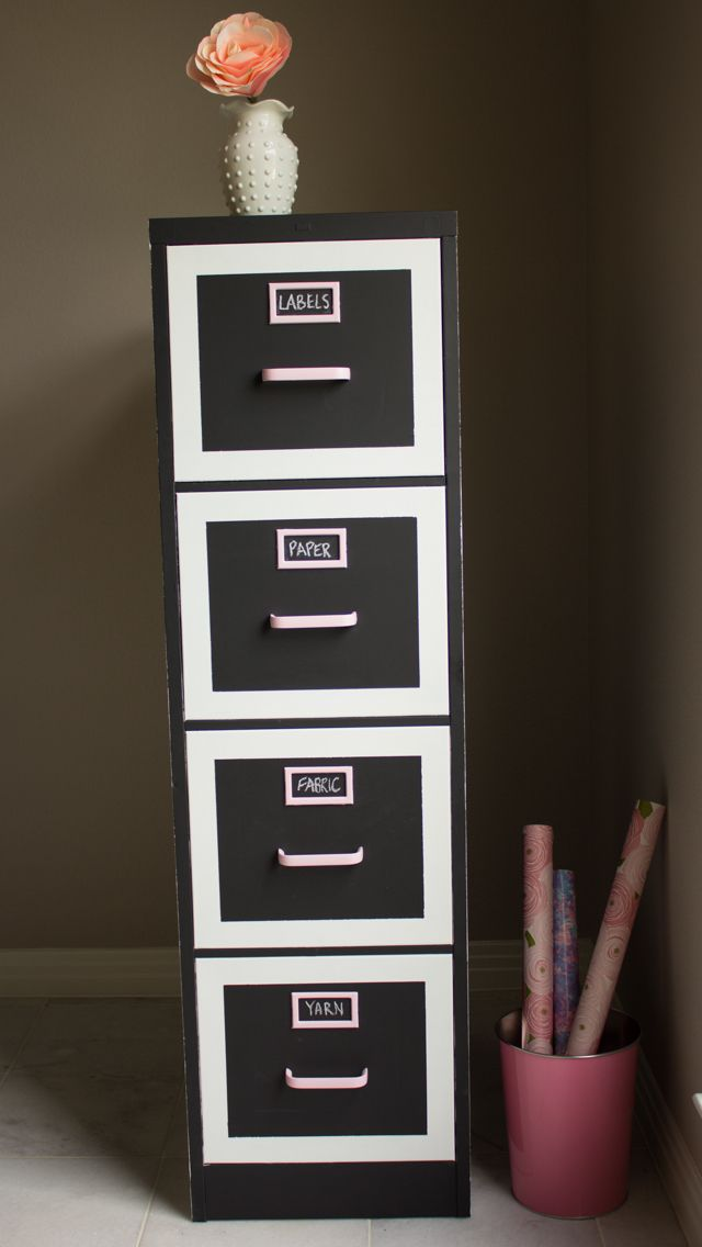 Design Improvised: File Cabinet Makeover