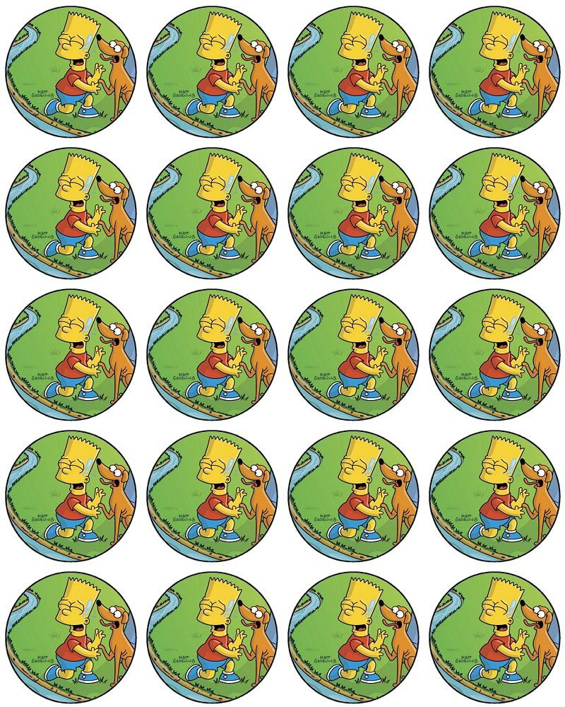 The Simpsons Bart Cupcake Toppers Free To Use And Free