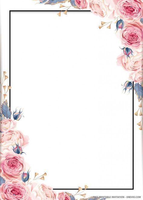 (FREE PRINTABLE) – Blue Floral Wedding Invitation Template