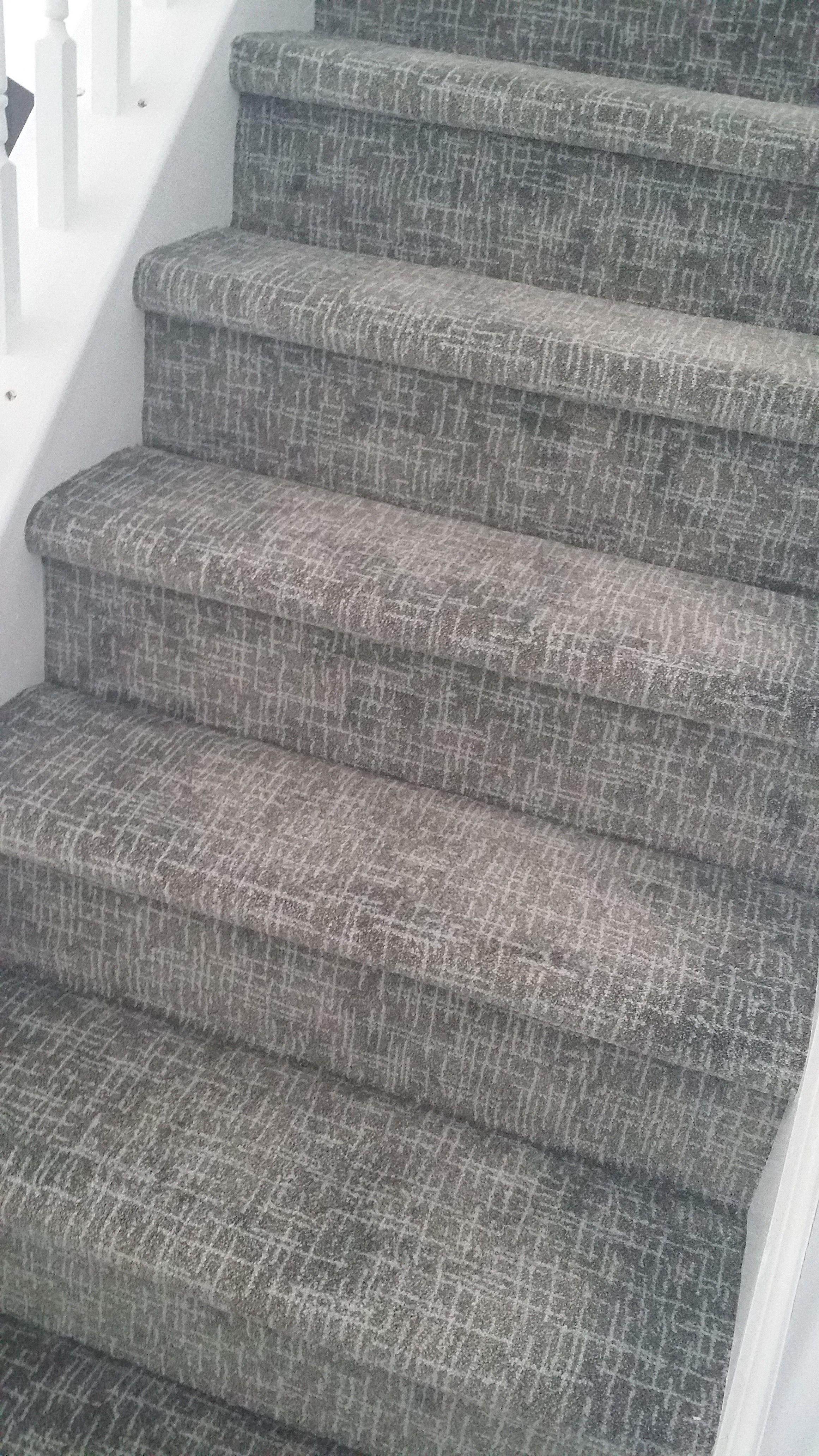 Stairway Leading Upstairs In 2020 Stair Runner Carpet Home Depot Carpet Patterned Stair Carpet
