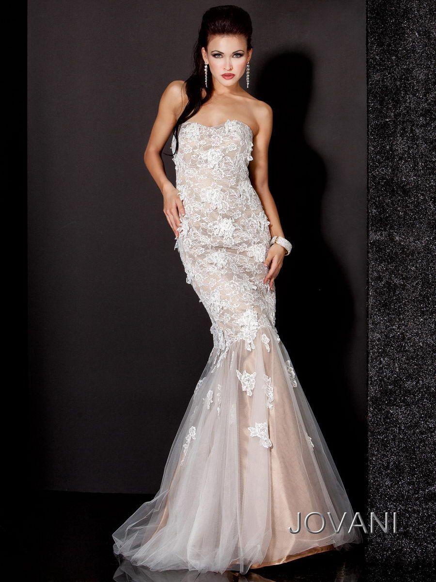 #Jovani Lace Overlay Gown, Style 3837 #IPAProm