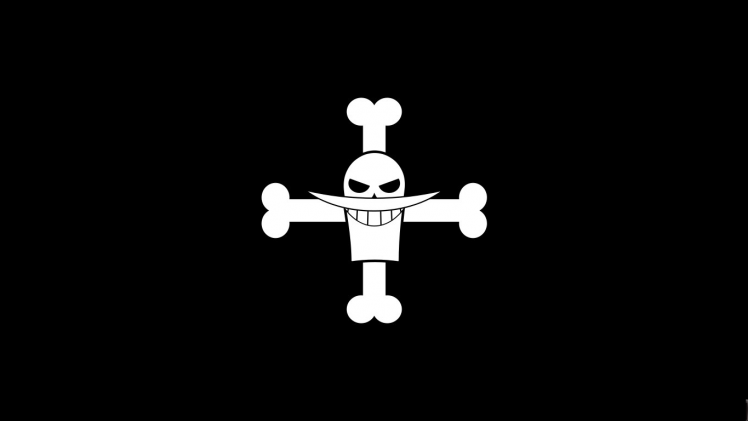 One Piece Black And White Wallpaper Hd Marco Whitebeard Flag Jolly Roger Dark Black Background 6 Hd Anime Wallpapers One Piece Logo Black And White Wallpaper
