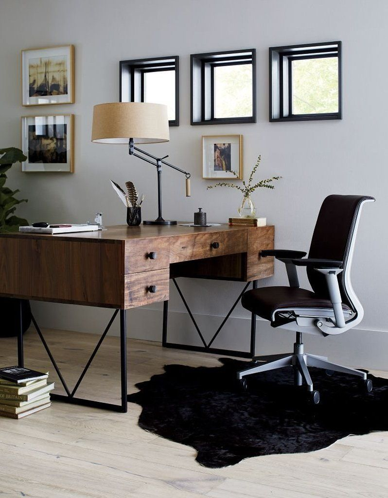 Atwood Reclaimed Wood Desk Reviews Crate And Barrel In 2020 Cheap Office Furniture Home Office Design Home