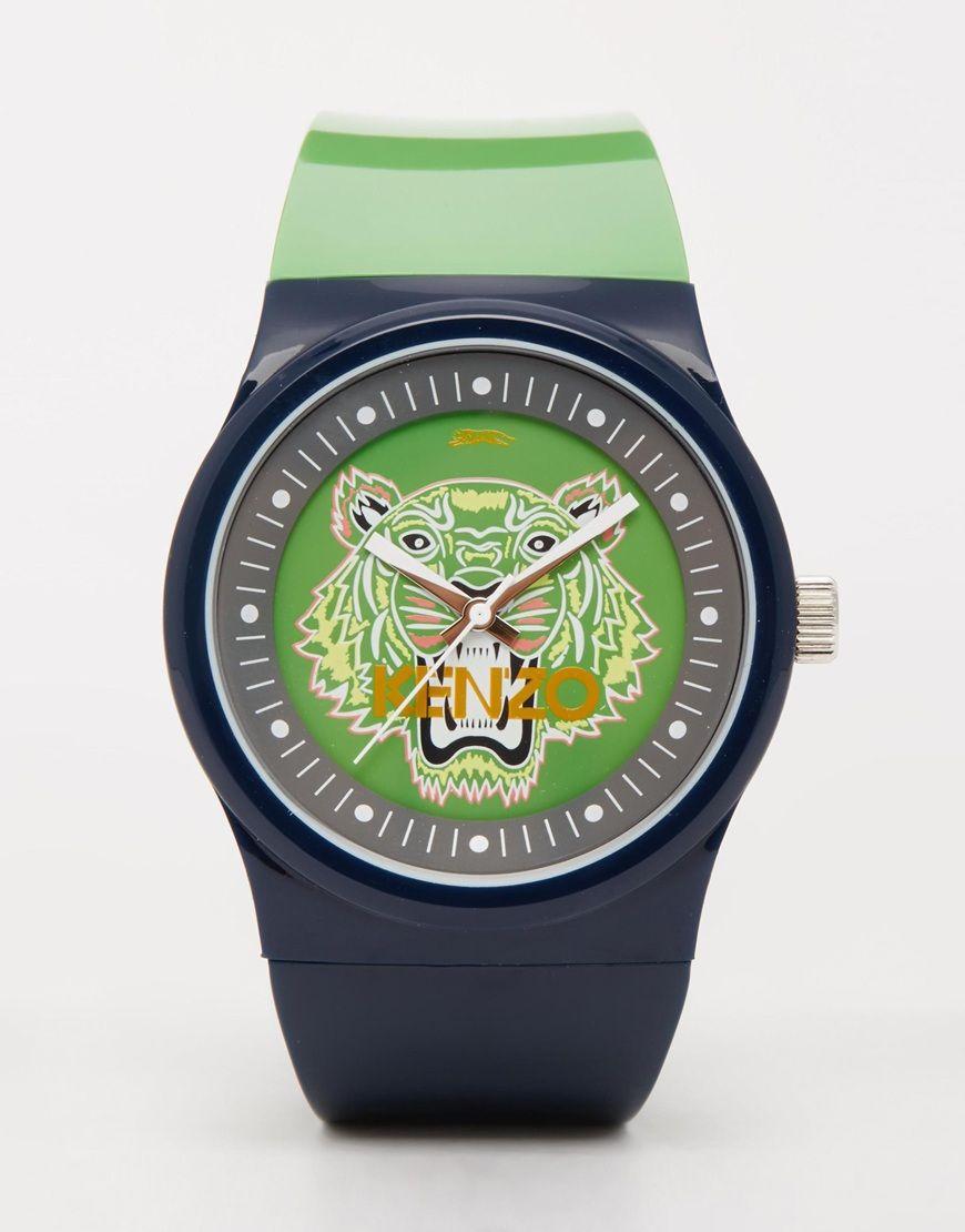 Kenzo montre bracelet en silicone a motif tigre