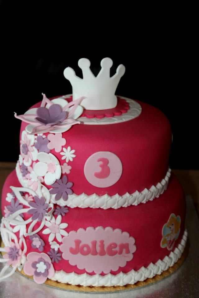 princess flower cake