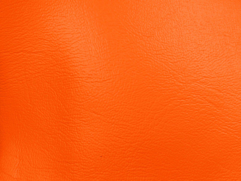 54 Orange Leather Like Upholstery Vinyl Per Yard Other Fabrics