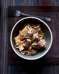 Spelt Rigatoni with Chicken Livers, Leeks and Sage - Food & Wine (Staff Favorite)