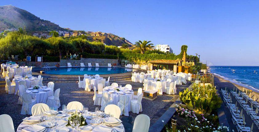 Paradise beach club, Letojanni Beach, Taormina, Sicily