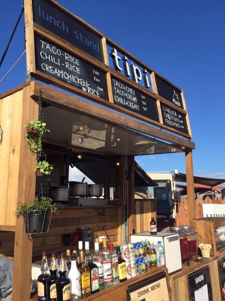 カリフォルニアの青い空 ではありませんがキッチンカーのお披露目 キッチンカー 屋台 デザイン 移動式カフェ