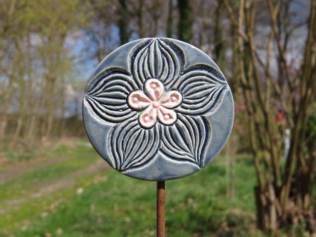 Pflanzen- & Gartenstecker - Keramik Pflanzenstecker Beetstecker Gartenstecker - ein Designerstück von gedemuck bei DaWanda