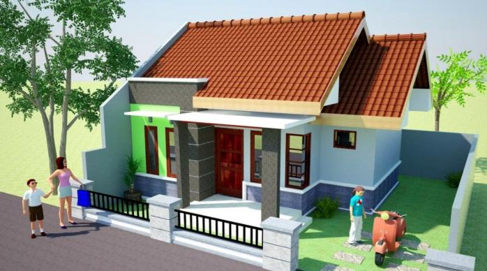 Cat Rumah Warna Hijau Tosca Tampak Depan - Content
