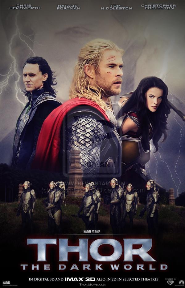 Thor The Dark World Poster V2 By Diamonddesignhd On Deviantart The Dark World Thor Marvel Avengers Assemble